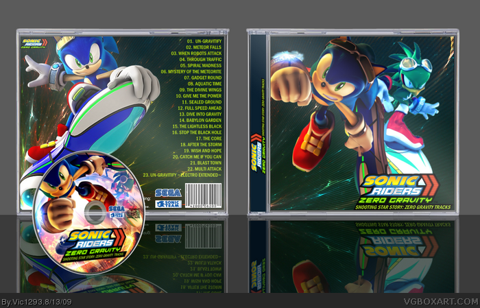 Sonic Riders: Zero Gravity Tracks box art cover
