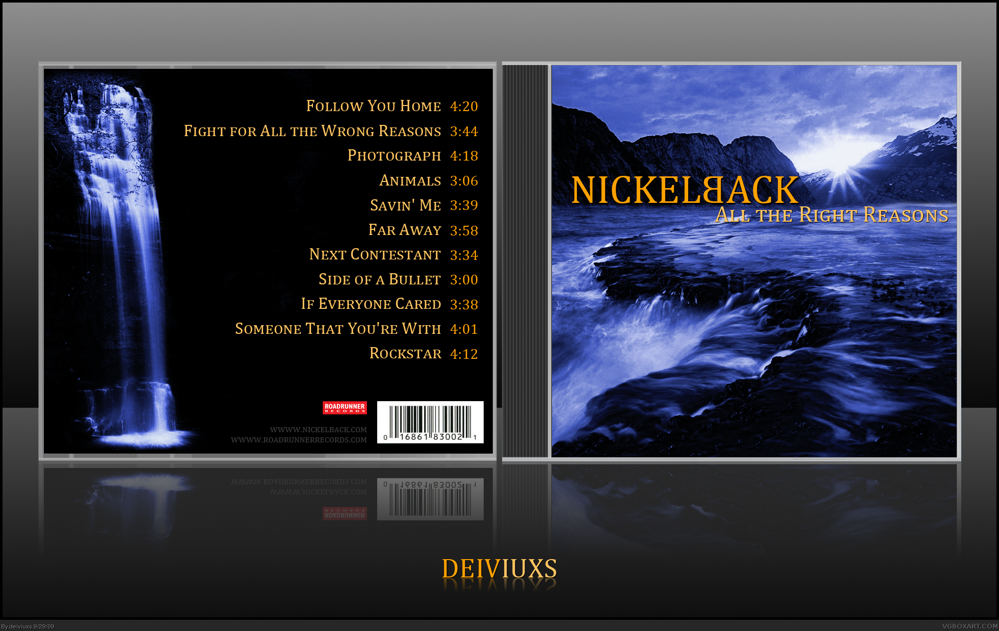 Viewing full size Nickelback - All the Right Reasons box cover