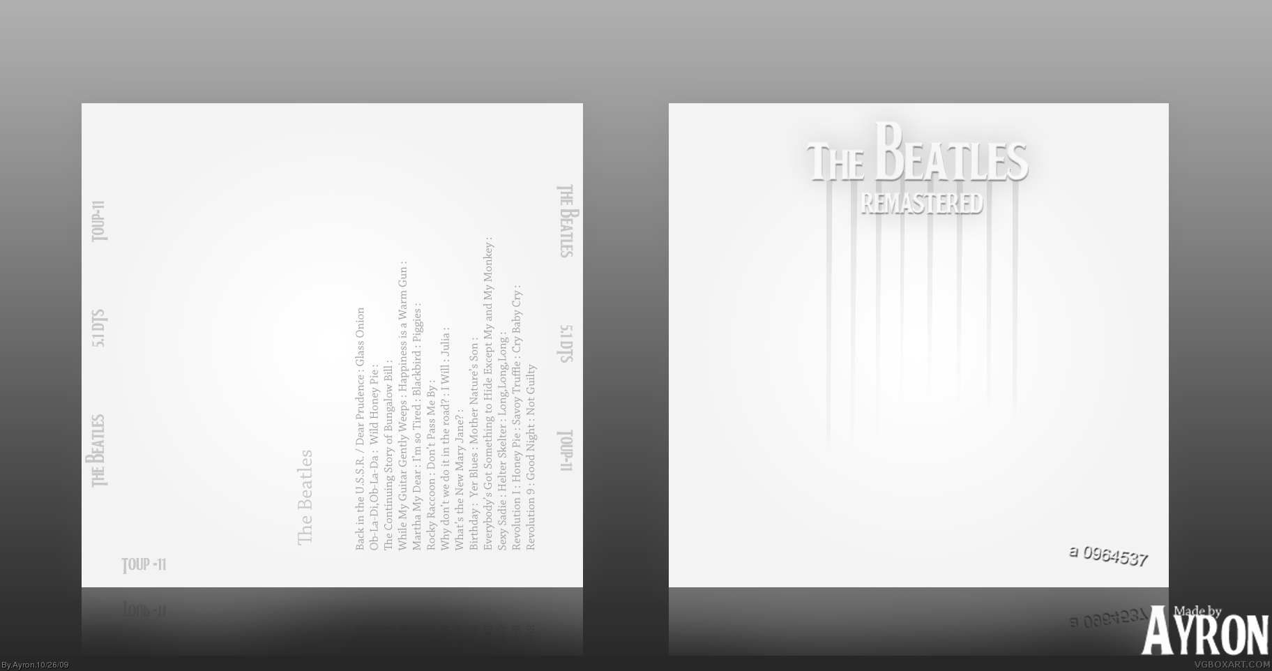 The Beatles : The Beatles box cover