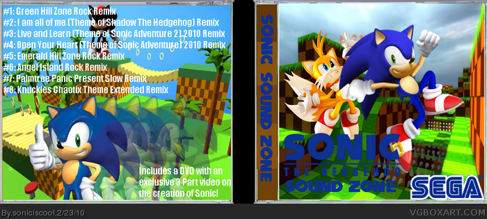 Sonic Sound Zone Music Box Art Cover by soniciscool