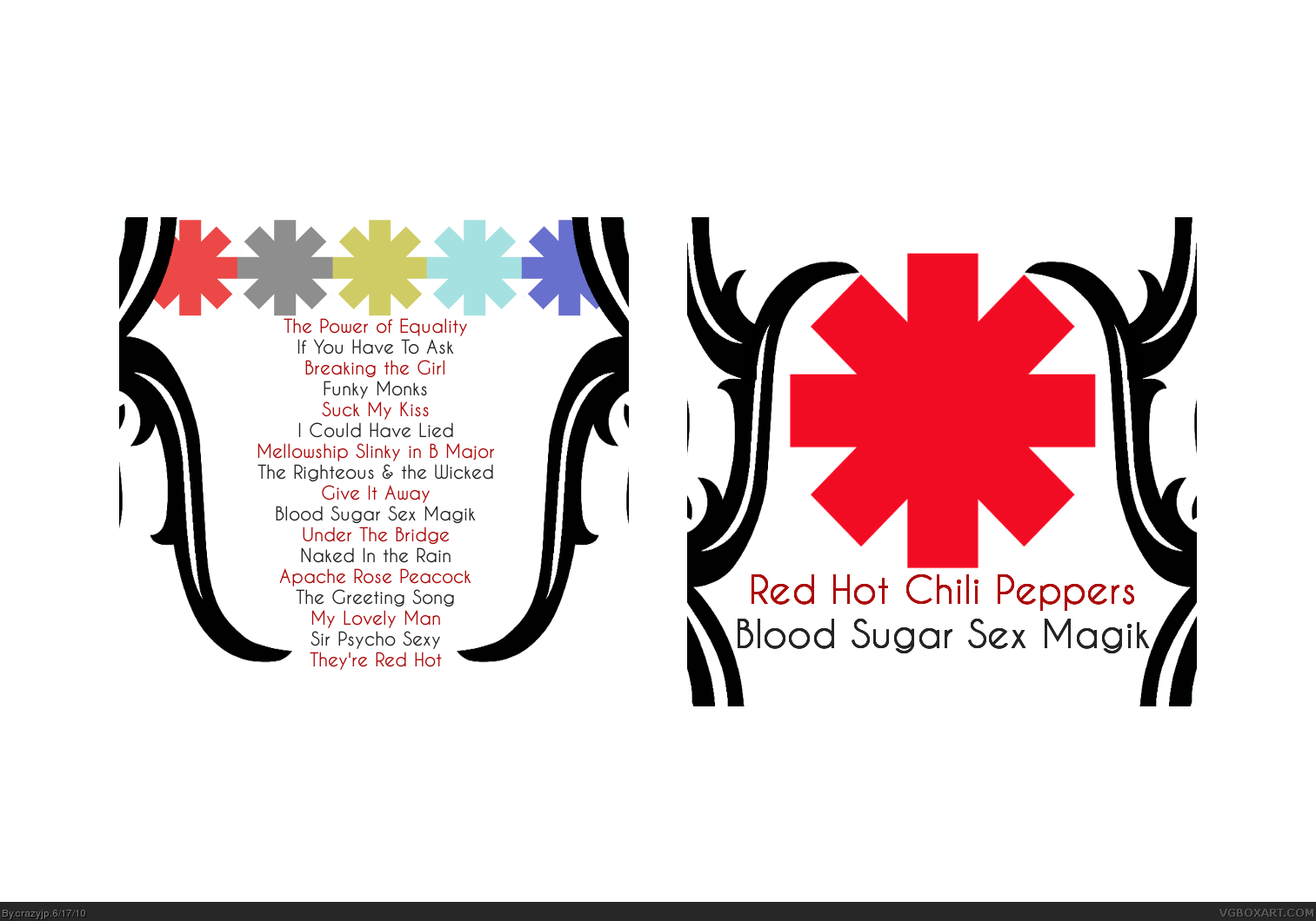 Red hot chili peppers blood sugar sex magik music box art cover by comments red hot chili peppers m4hsunfo