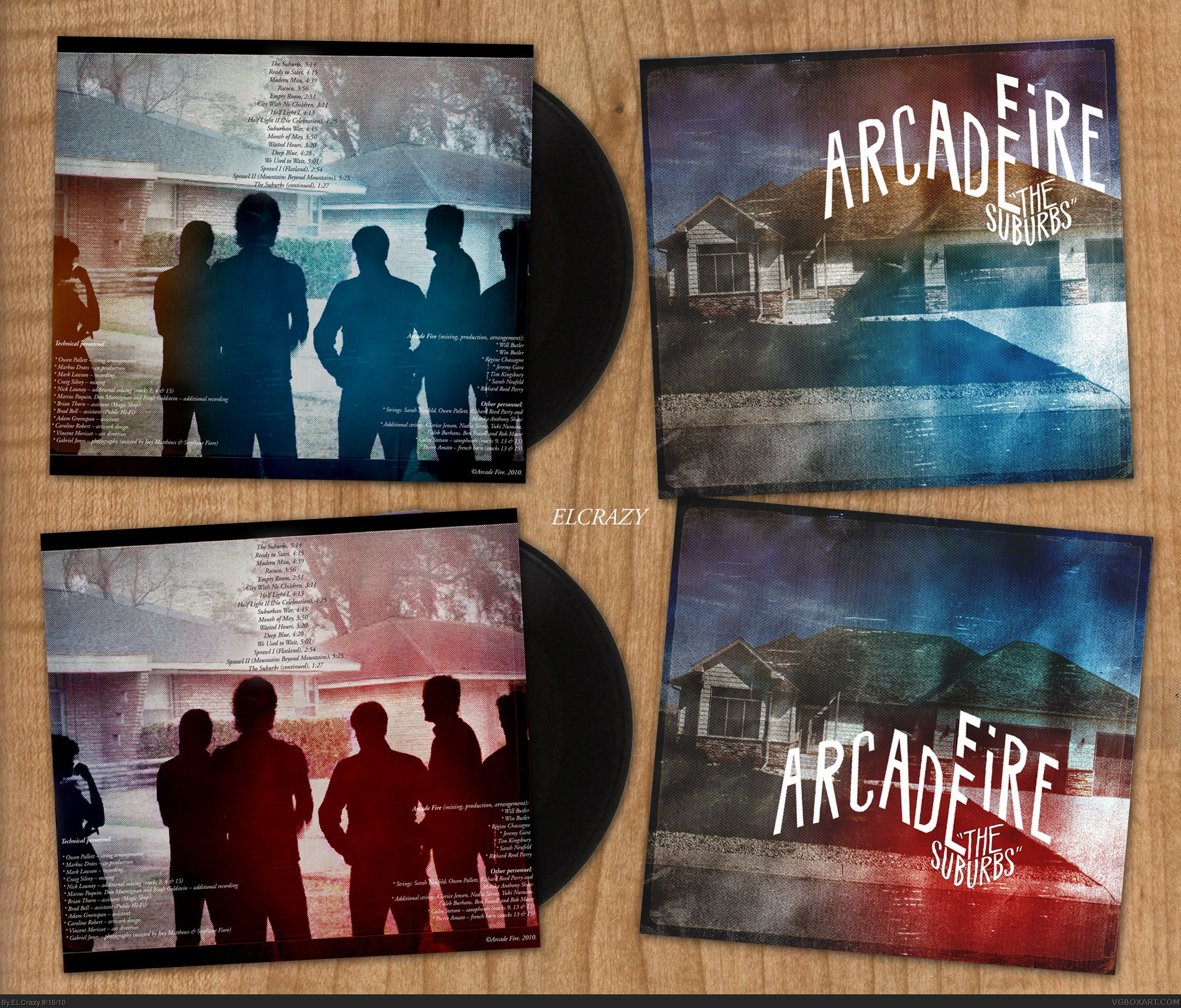 Arcade Fire: The Suburbs box cover