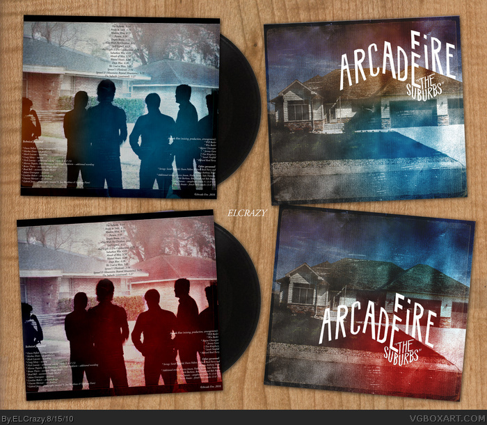 Arcade Fire: The Suburbs box art cover