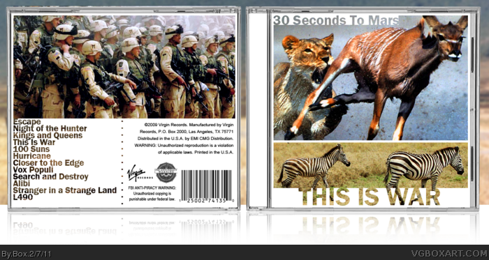 Thirty Seconds to Mars - This Is War box art cover