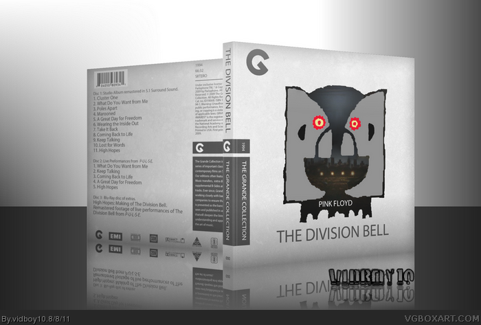 Pink Floyd - The Division Bell box art cover