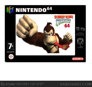 Donkey kong country 64 box cover