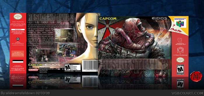 Resident Evil 3: Nemesis box art cover