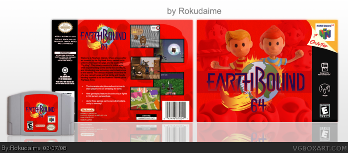 Earthbound 64 Nintendo Box Art Cover By Rokudaime