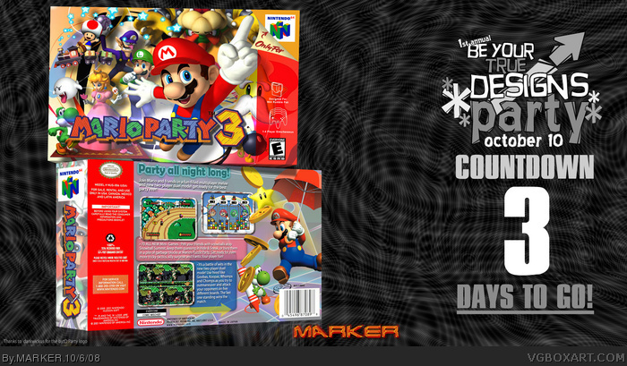 Mario Party 3 box art cover