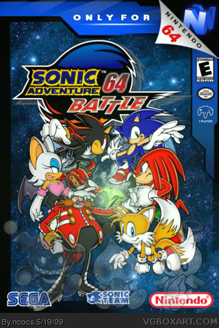 sonic 64 Nintendo 64 Box Art Cover by soniccovers