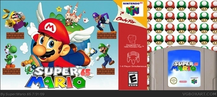 Super Mario 65 box art cover