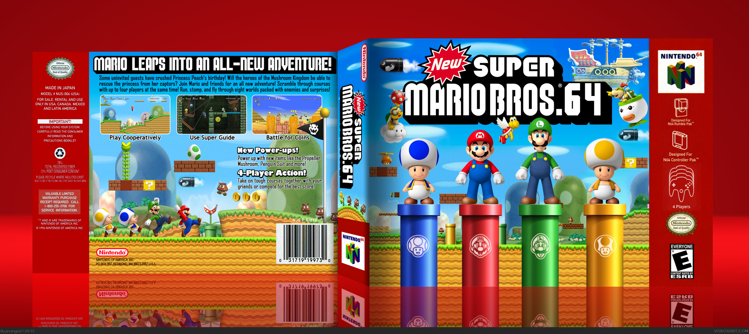 NEW Super Mario Bros. 64 box cover