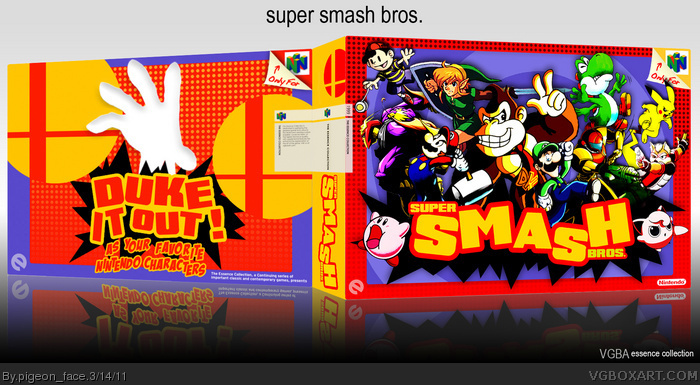 Super Smash Bros. box art cover