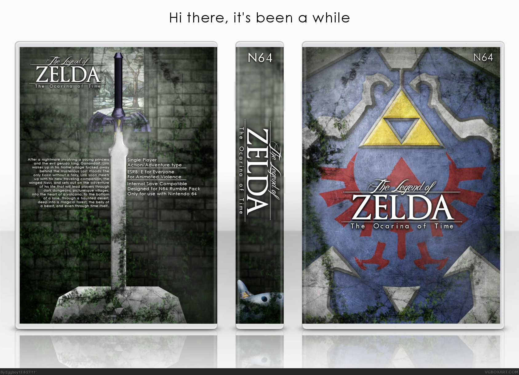 The Legend of Zelda: Ocarina of Time box cover