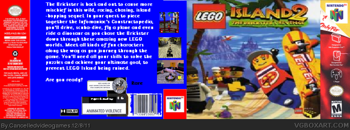 LEGO Island 2: The Brickster's Revenge box art cover