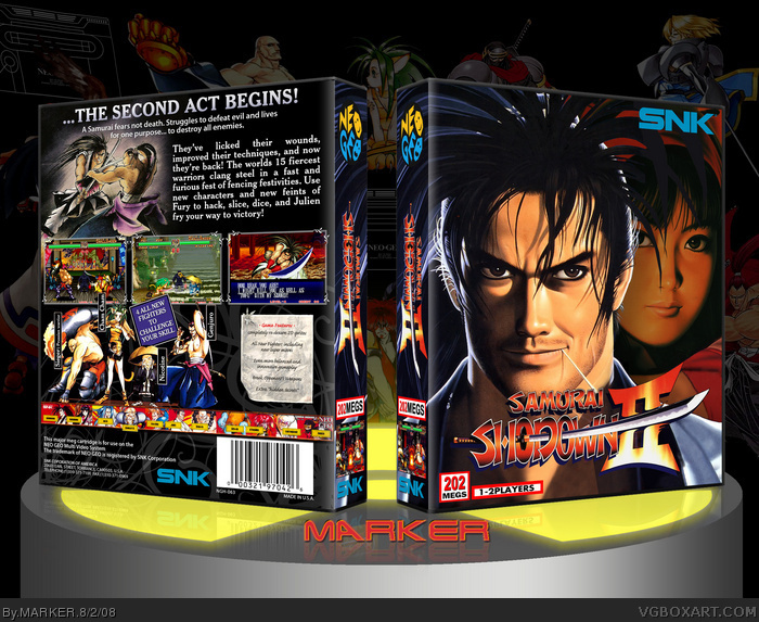 Samurai Shodown II box art cover