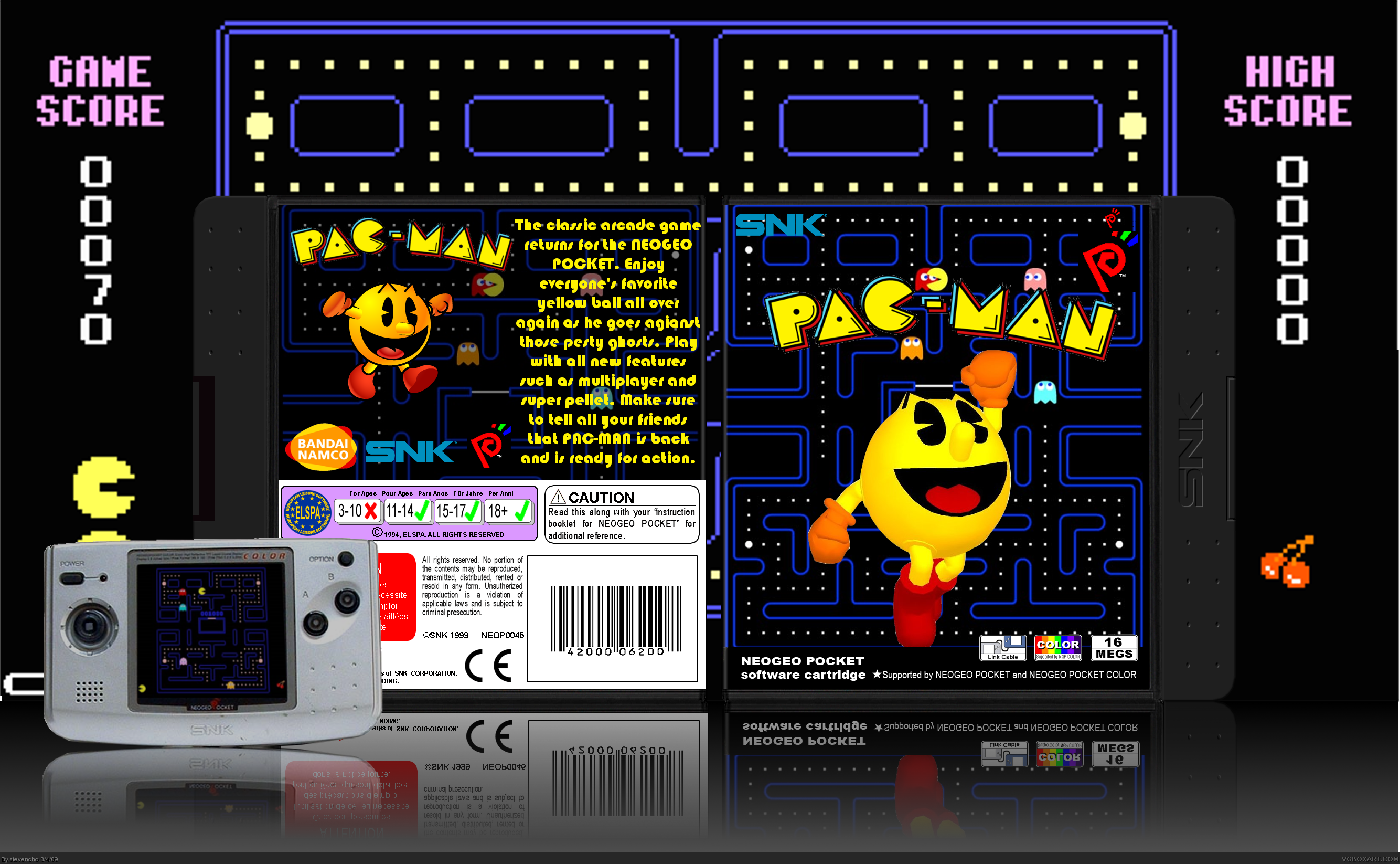 PAC-MAN box cover