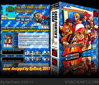 NGPC - SNK vs Capcom - Card Fighters SNK ver box cover