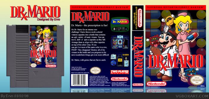 Dr. Mario box art cover