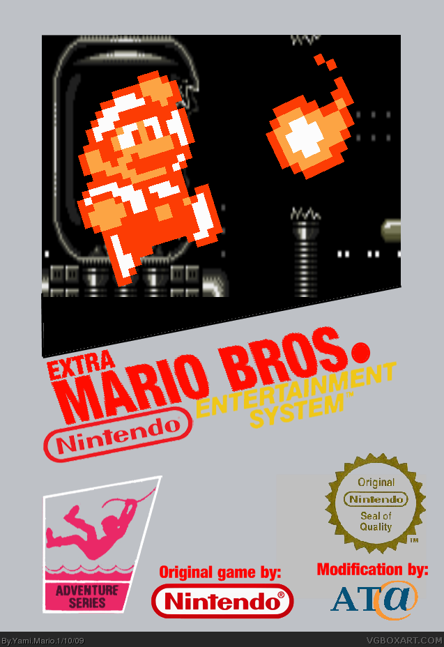 Extra Mario Bros Nes Box Art Cover By Yami Mario