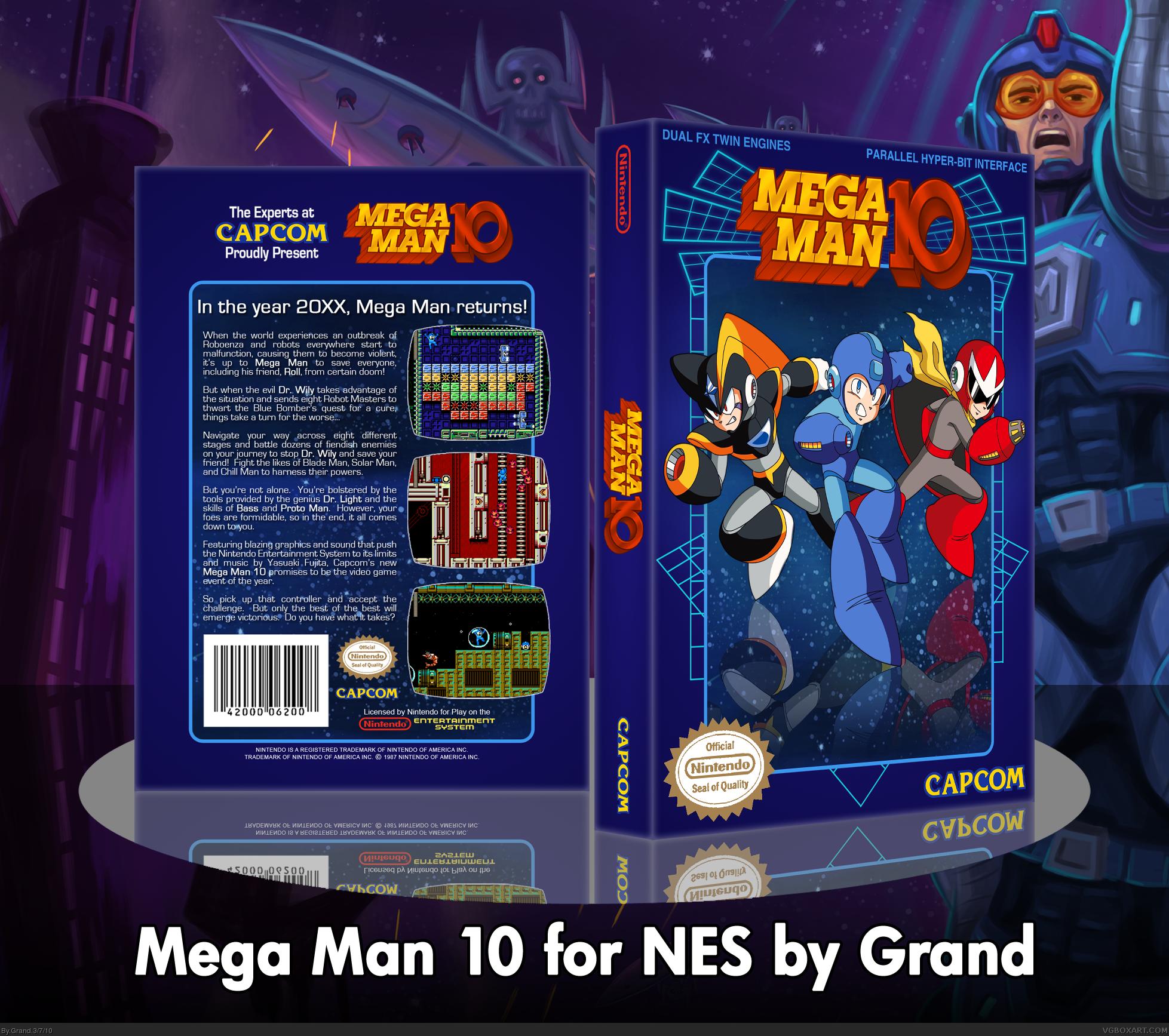 Mega Man 10 Nes Box Art Cover By Grand