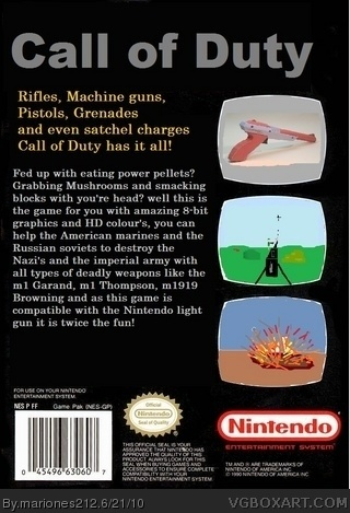 Call of Duty back box art cover