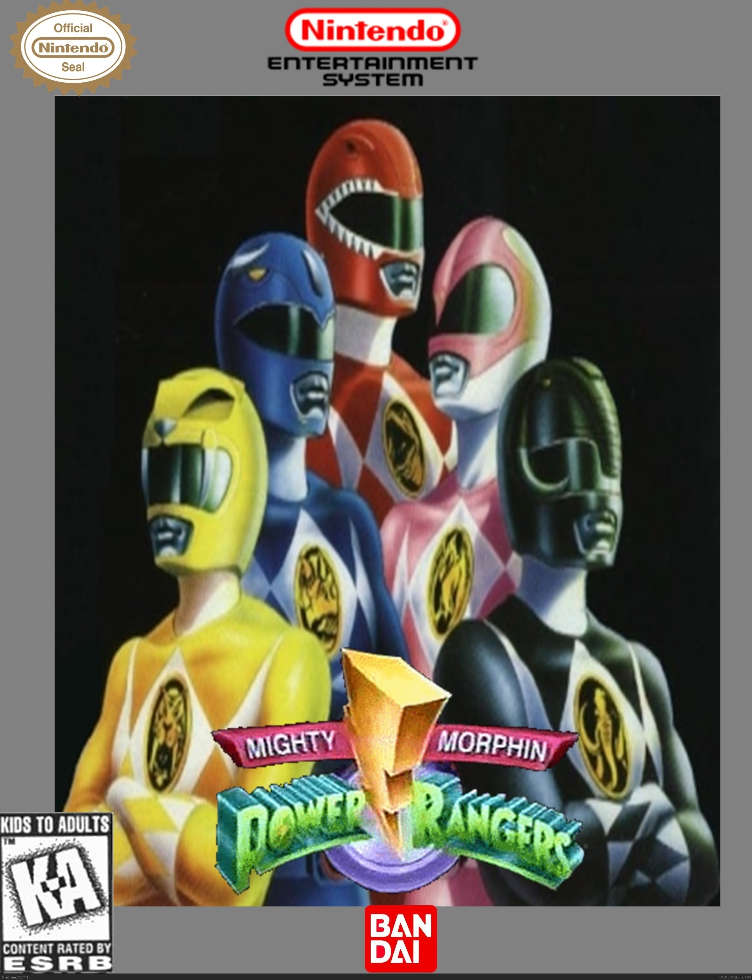 Mighty Morphin Power Rangers box cover