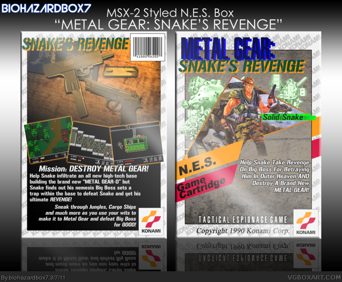 Metal Gear: Snake's Revenge box art cover
