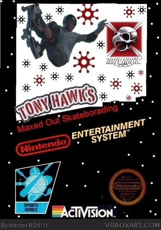 Tony Hawk's Maxed Out Skateborading box art cover