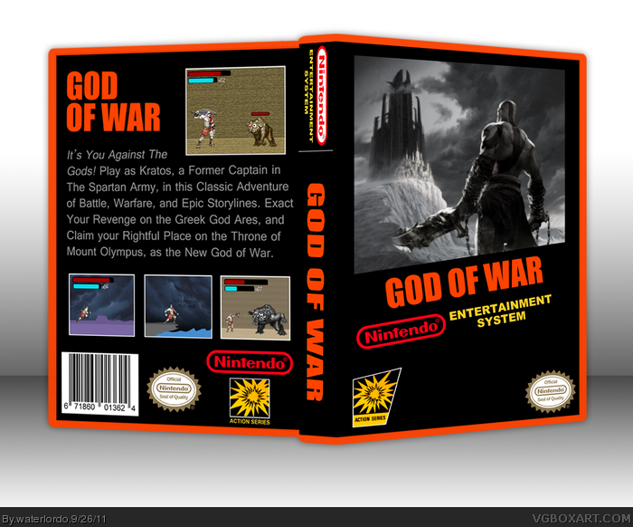 God Of War Nes Box Art Cover By Waterlordo