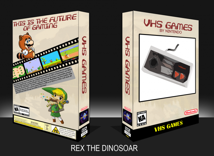 nintendo vhs games nes box art cover by rex the dinosoar