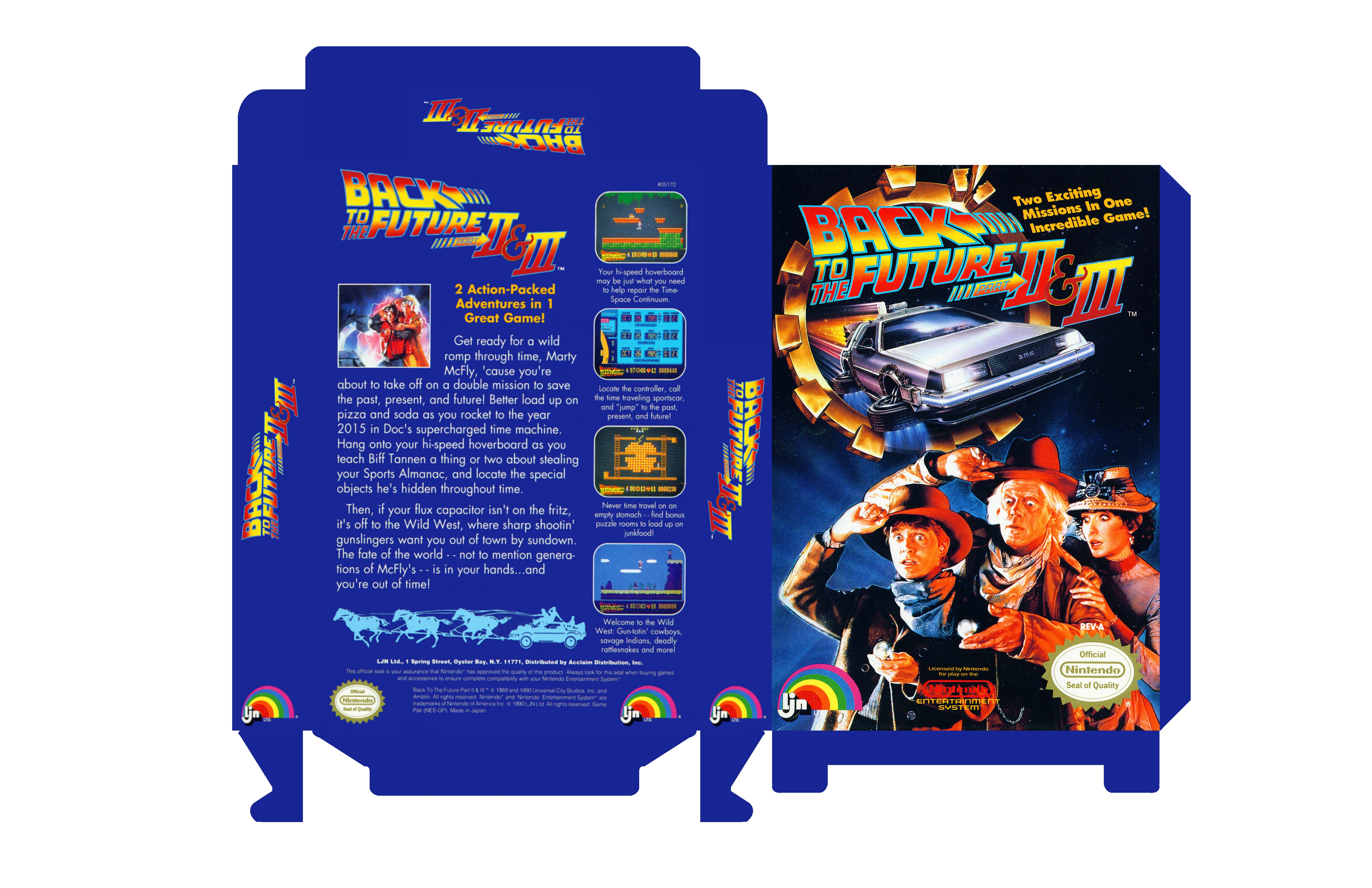 Back to the future ii amp iii nes box art cover by laughatbilly
