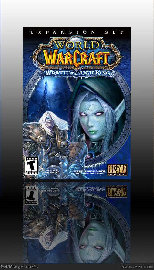 world of warcraft  wrath of the lich king pc box art cover