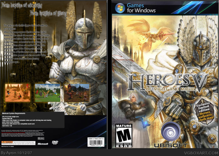 Heroes of Might & Magic V box art cover
