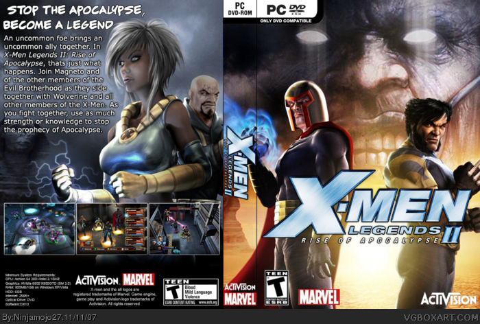 X-Men Legends II - Rise of Apocalypse Download (2005 Role playing Game)