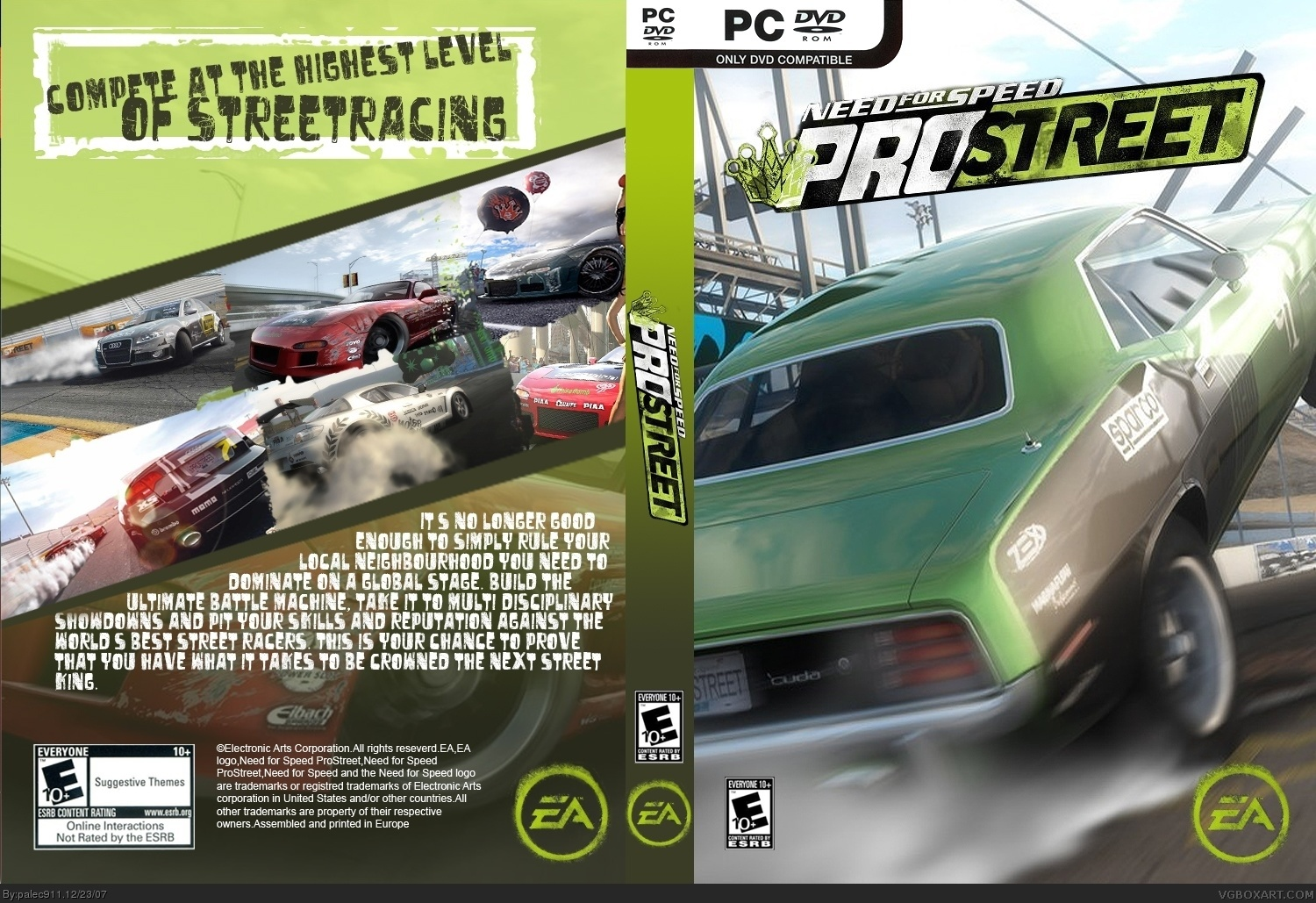 need for speed prostreet pc box art cover by palec911. Black Bedroom Furniture Sets. Home Design Ideas