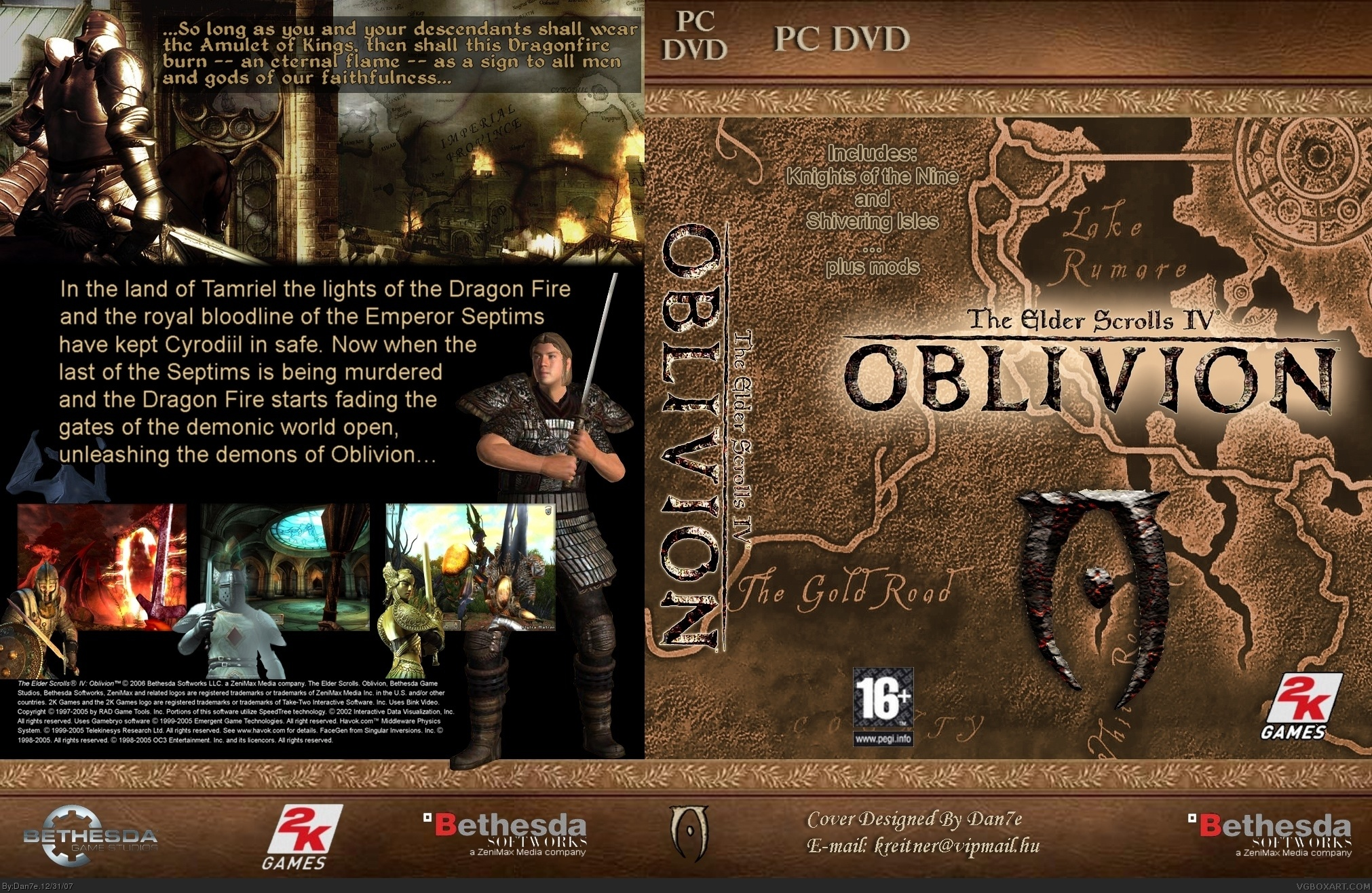 The Elder Scrolls Iv Oblivion Pc Box Art Cover By Dan7e