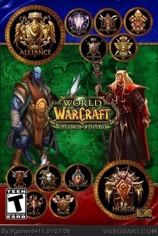 World Of Warcraft The Burning Crusade Pc Box Art Cover By