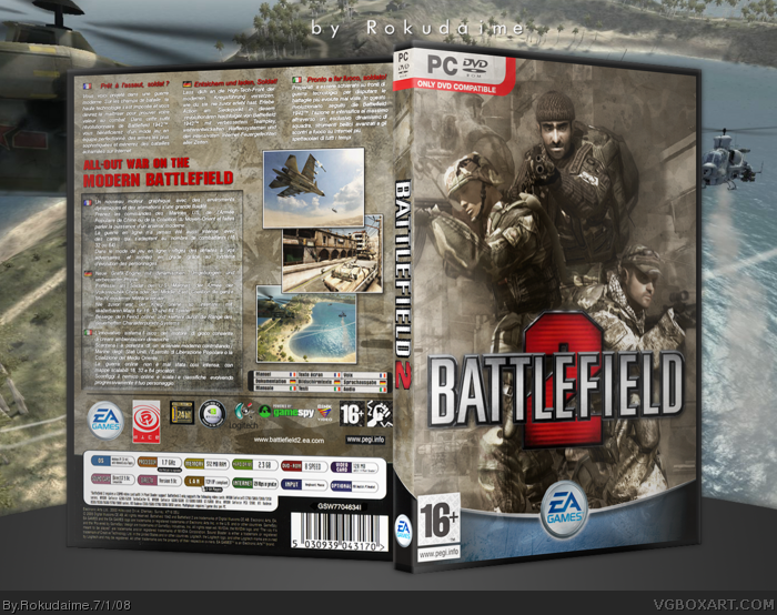Battlefield 2 box art cover