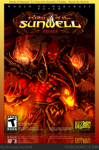 World of Warcraft: Fury of the Sunwell Patch 2.4 box cover