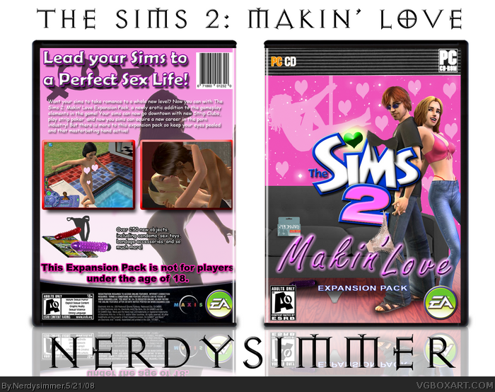 The Sims 2: Makin' Love box art cover