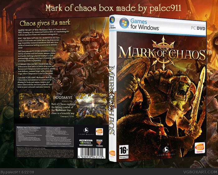 Warhammer : Mark of Chaos box art cover