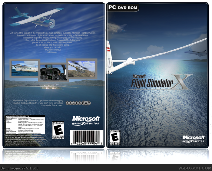 Microsoft Flight Simulator X box art cover