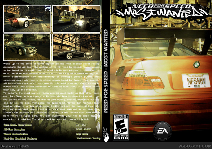 Need For Speed Most Wanted Box Cover Comments