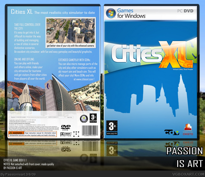 Cities XL box art cover
