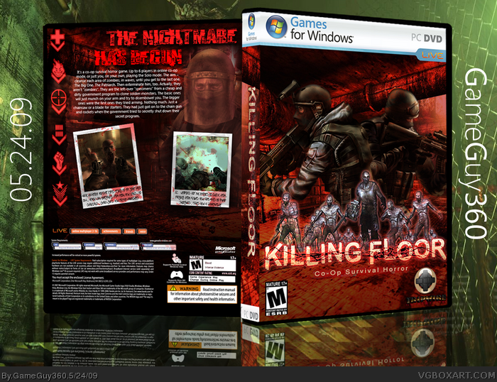 Killing floor pc box art cover by gameguy360 for Killing floor xbox one