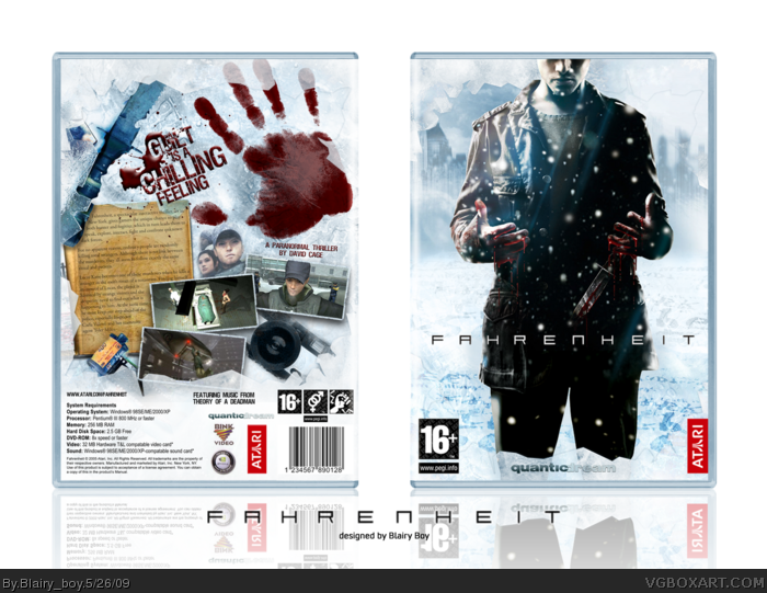Fahrenheit PC Box Art Cover by Blairy_boy
