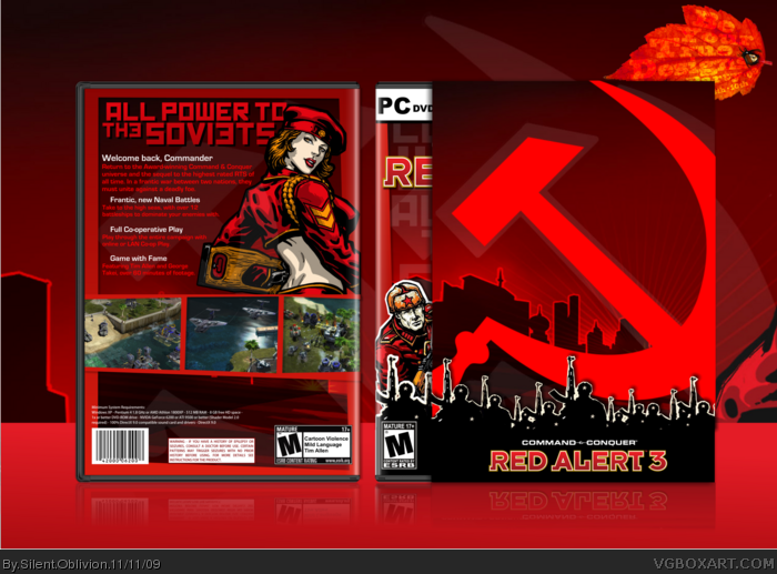 Red Alert 3 box art cover