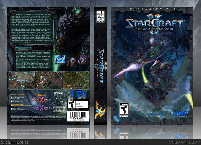 Starcraft II: Legacy of the Void box art cover
