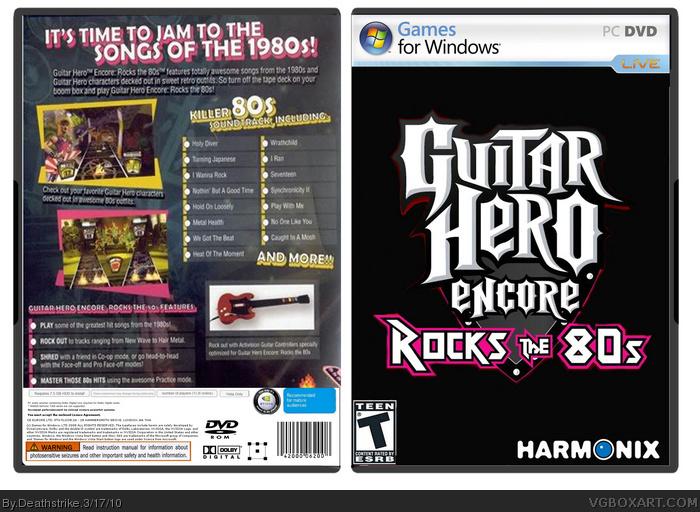 Genesis 38 8 >> Guitar Hero Encore: Rocks the 80s PC Box Art Cover by Deathstrike